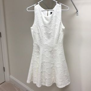 Lord & Taylor White floral dress
